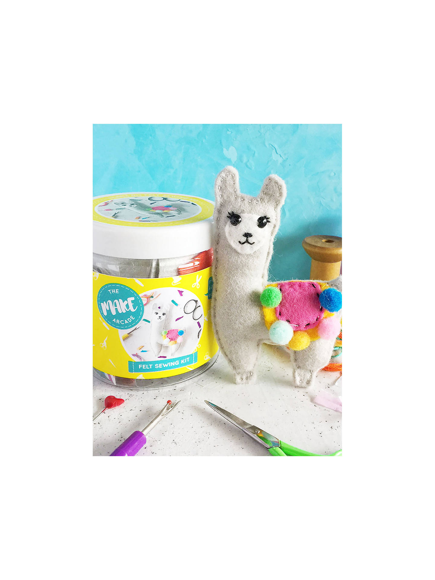 Buy The Make Arcade Sew Your Own Felt Llama Craft Kit Online at johnlewis.com