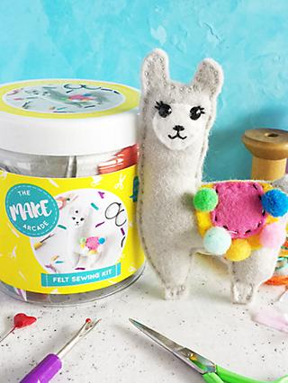 The Make Arcade Sew Your Own Felt Llama Craft Kit