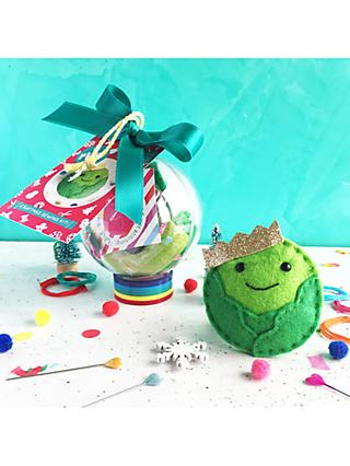The Make Arcade Sew Your Own Felt Christmas Brussel Sprout Tree Decoration