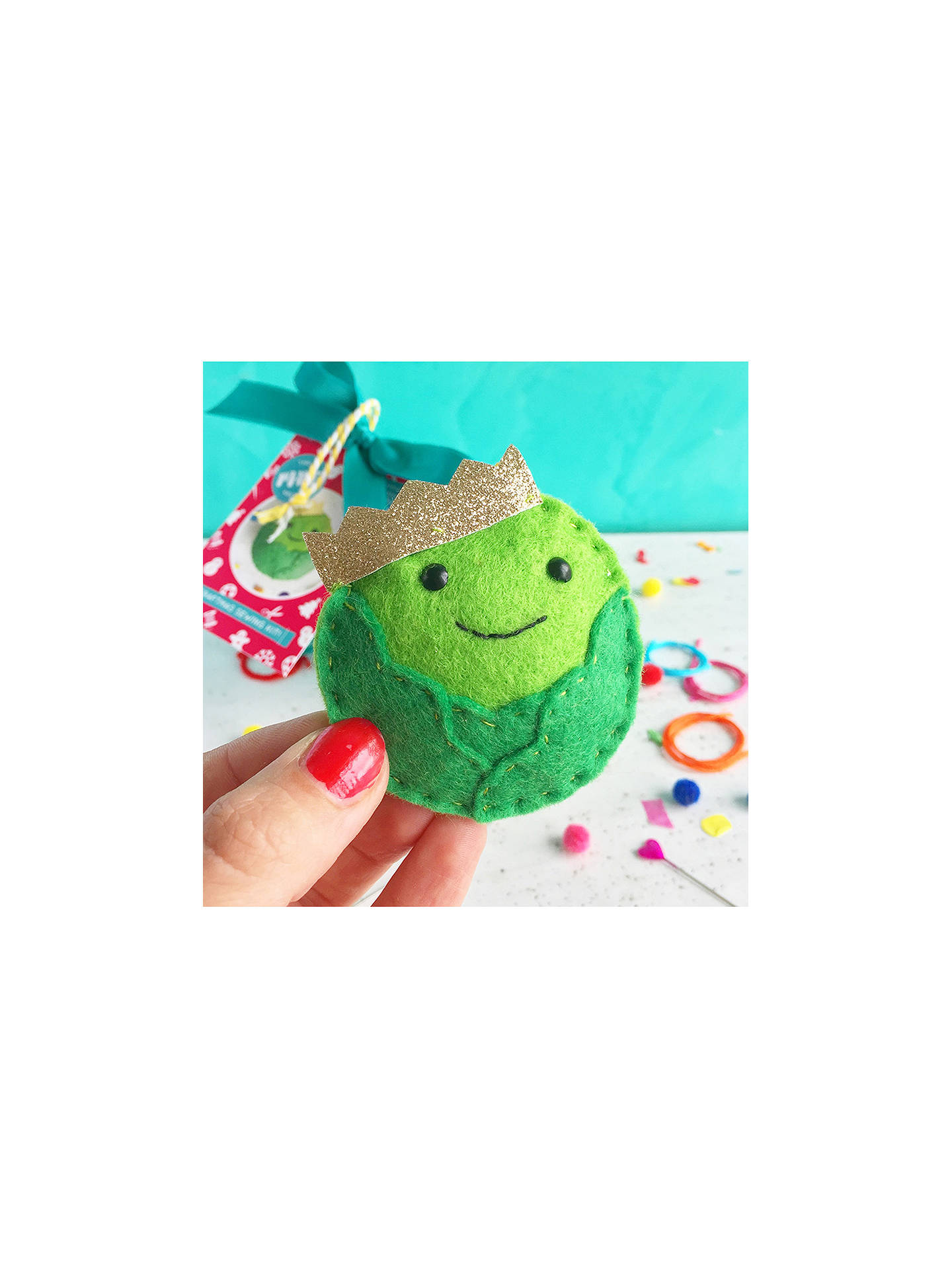 Buy The Make Arcade Sew Your Own Felt Christmas Brussel Sprout Tree Decoration Online at johnlewis.com