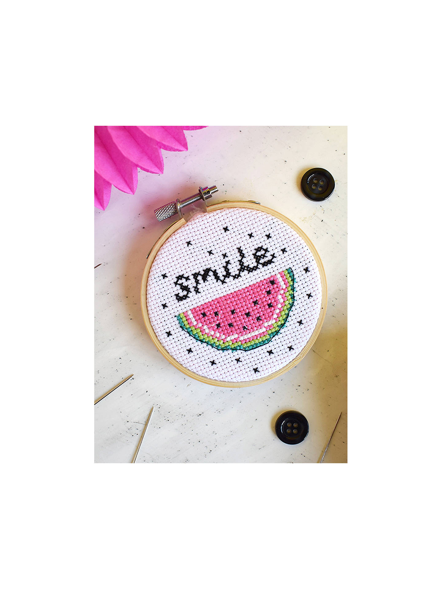 BuyThe Make Arcade Mini Watermelon Cross Stitch Kit Online at johnlewis.com