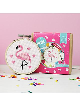 The Make Arcade Mini Flamingo Cross Stitch Kit