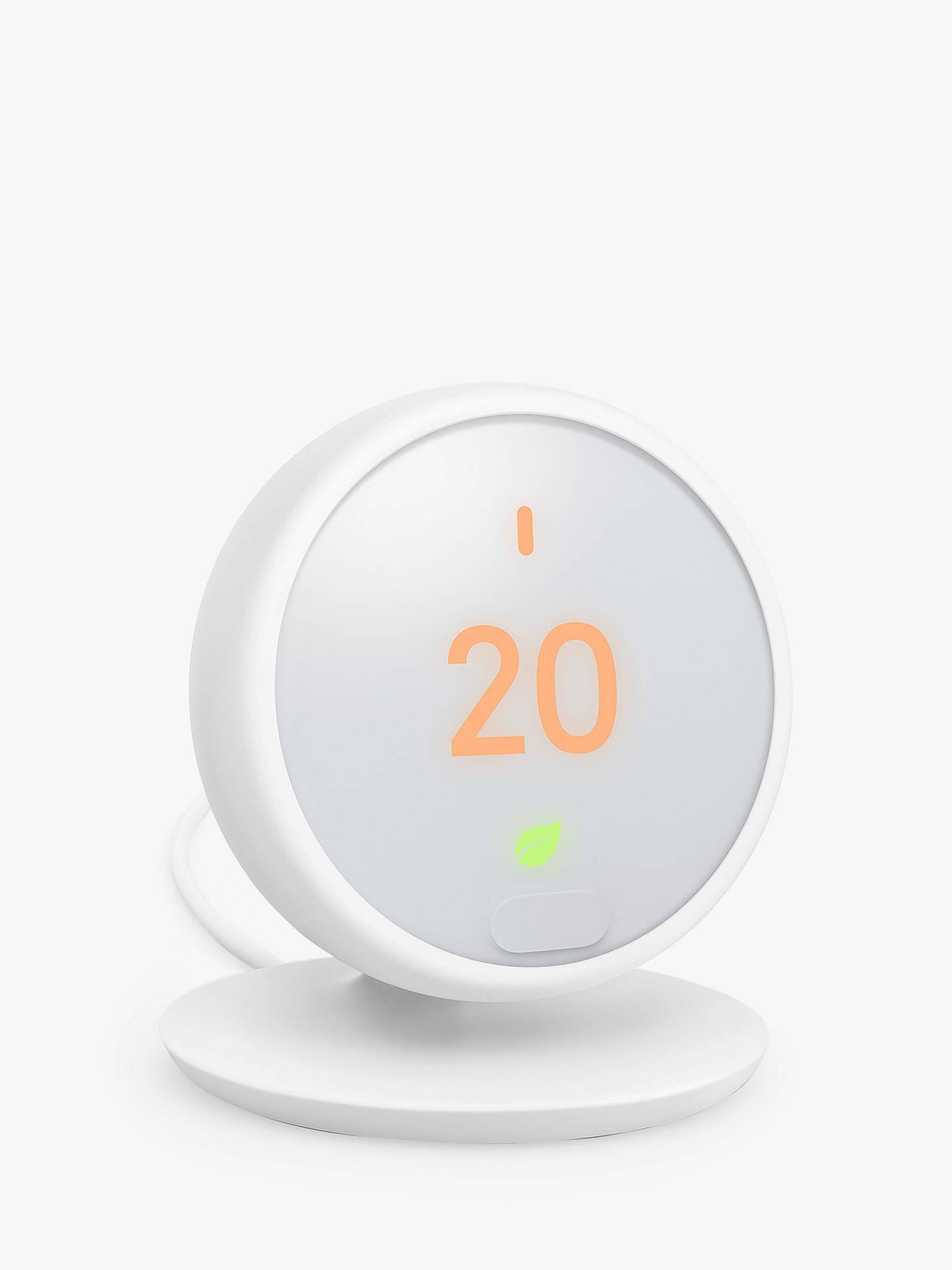 Google Nest Thermostat E White At John Lewis Partners