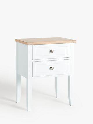 John Lewis & Partners St Ives Bedside Table, FSC-Certified (Oak, Birch, Oak Veneer, MDF)