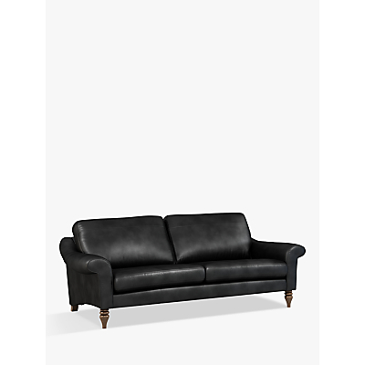 John Lewis & Partners Camber Grand 4 Seater Leather Sofa, Dark Leg