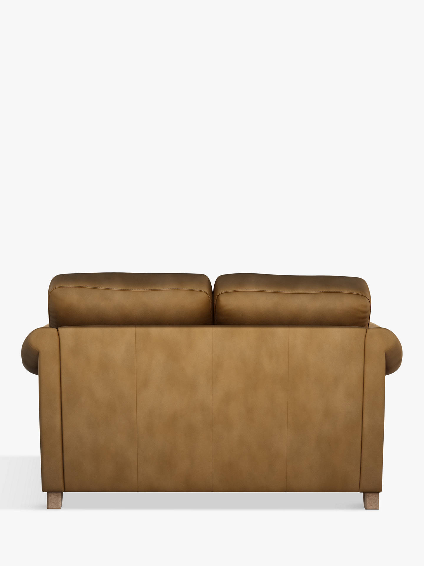 Buy John Lewis & Partners Camber Small 2 Seater Leather Sofa, Dark Leg, Demetra Light Tan Online at johnlewis.com