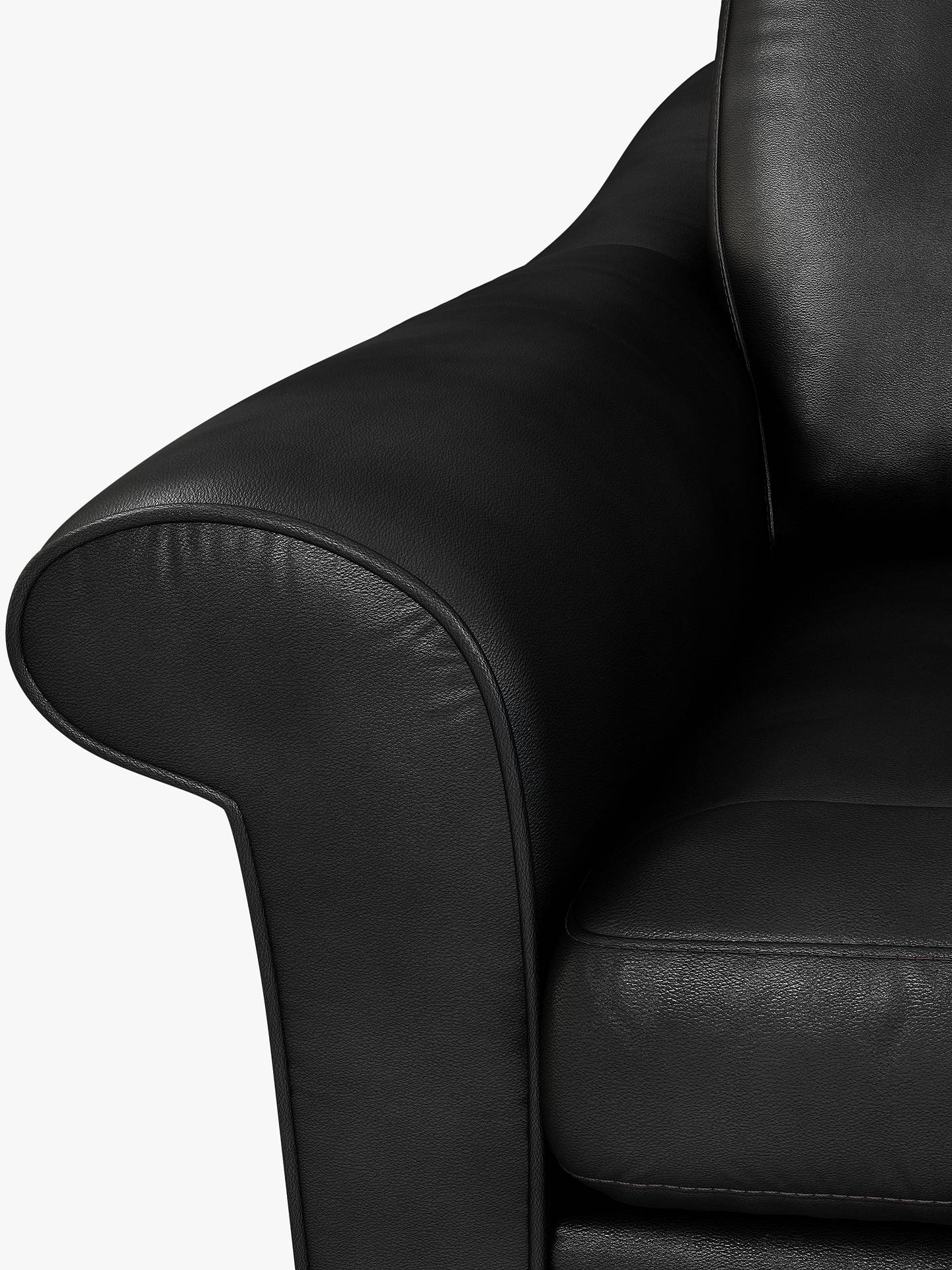 Buy John Lewis & Partners Camber Small 2 Seater Leather Sofa, Dark Leg, Nature Black Online at johnlewis.com