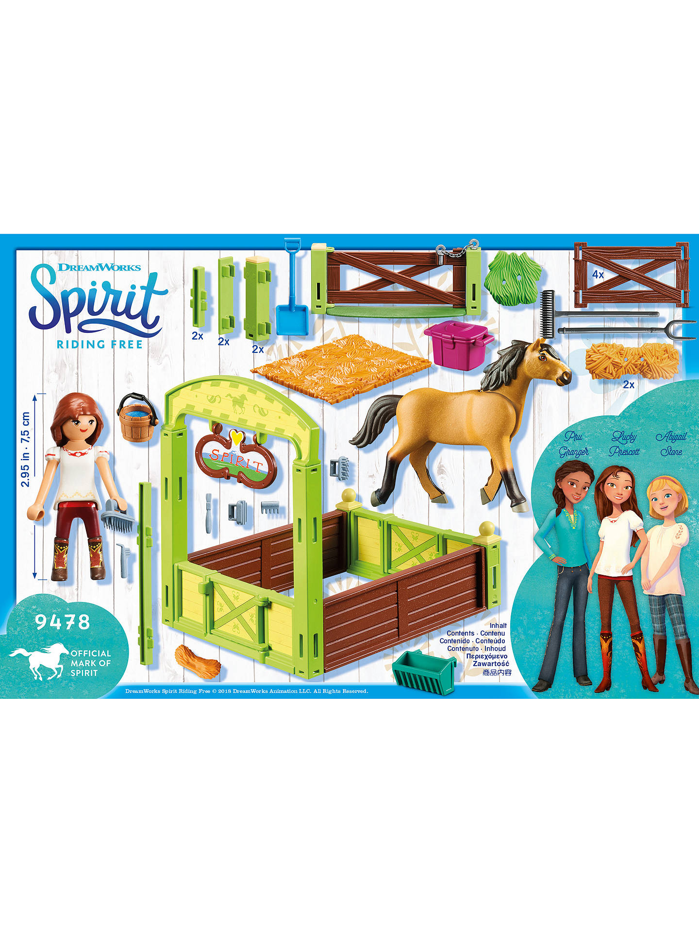 Playmobil Dreamworks Spirit Riding Free 9480 Lucky And Spirit With Horse  Stall