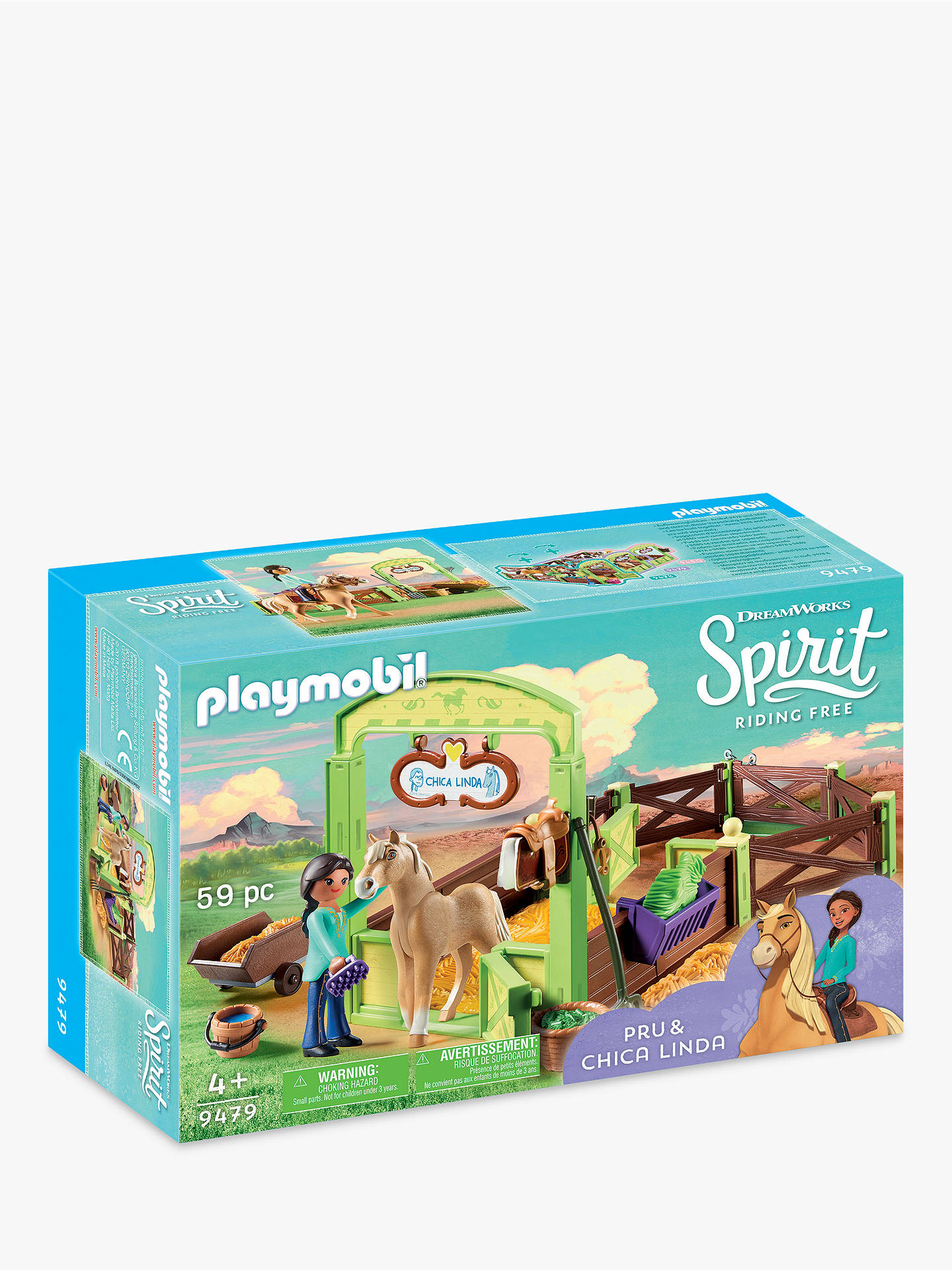 Playmobil Dreamworks Spirit Riding Free 9479 Pru And Chica Linda With Horse  Stall