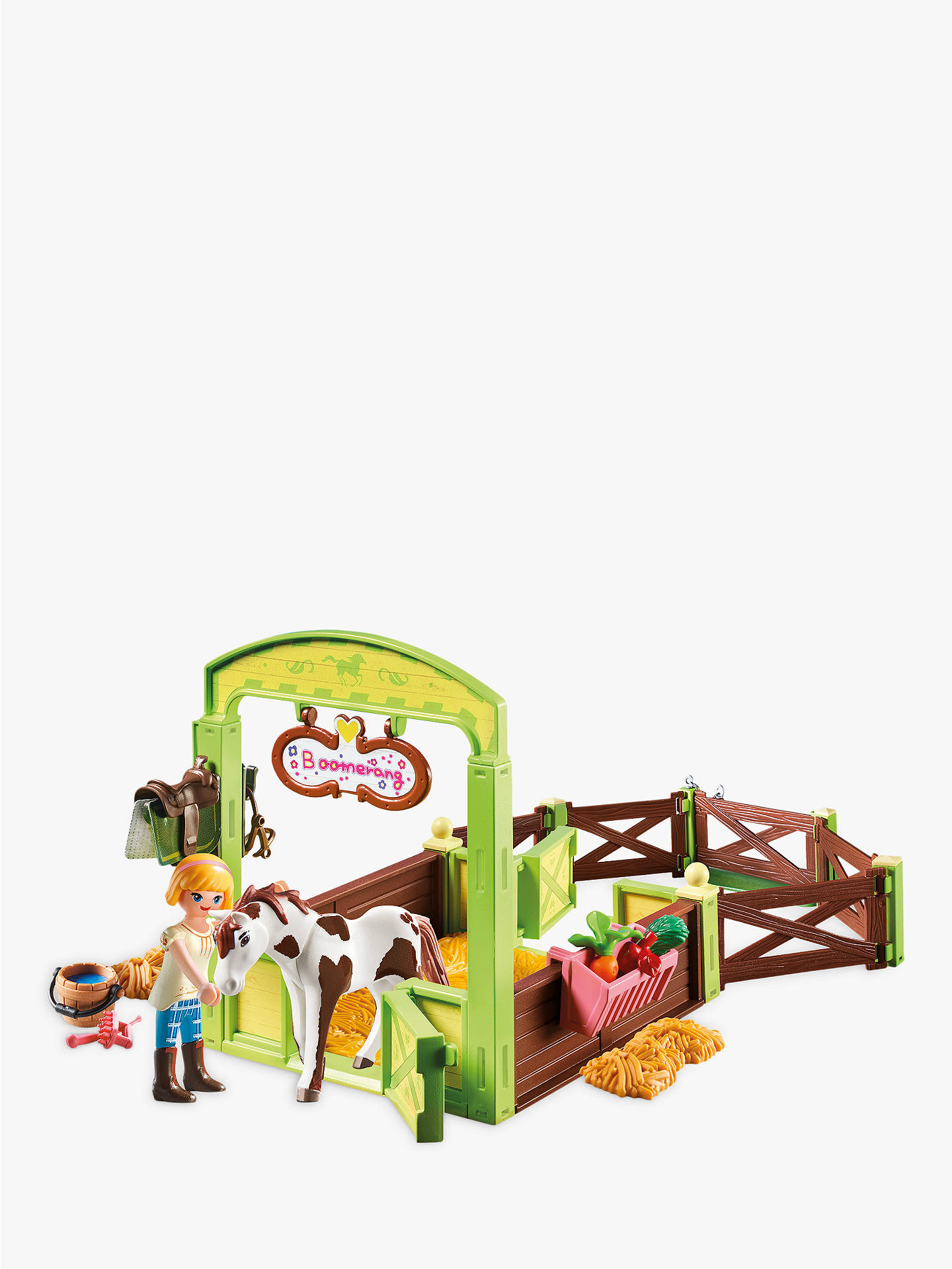 Buy Playmobil Dreamworks Spirit Riding Free 9480 Abigail And Boomerang With Horse Stall Online at johnlewis.com