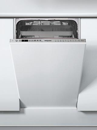 Hotpoint HSIO3T223WCEUK Integrated Slimline Dishwasher, A++ Energy Rating, Silver