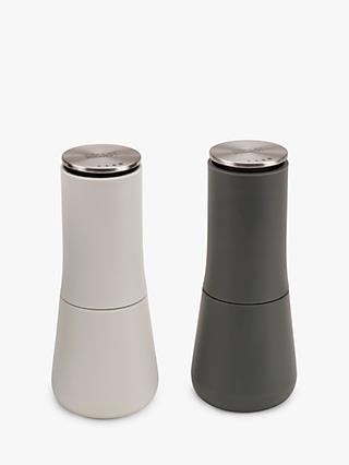 Joseph Joseph Milltop No Spill Salt & Pepper Mills, Set of 2, Grey