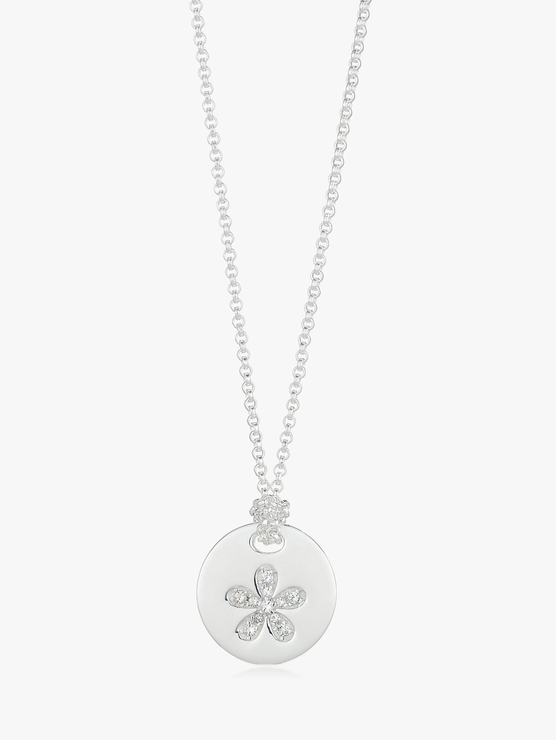 Molly Brown London Sterling Silver Angel of Mine Flower Necklace