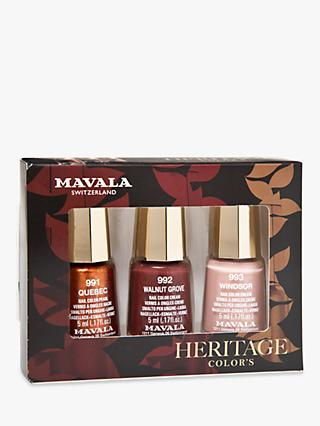 MAVALA Heritage Colours Nail Polish Trio Gift Set