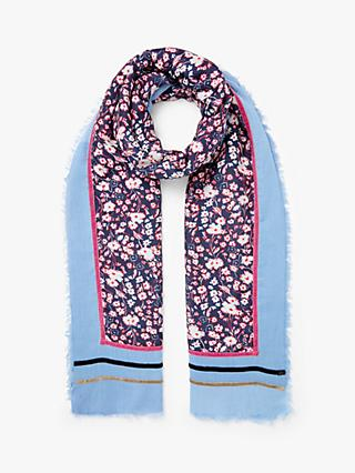 Collection WEEKEND by John Lewis Dara Floral Scarf, Navy Mix