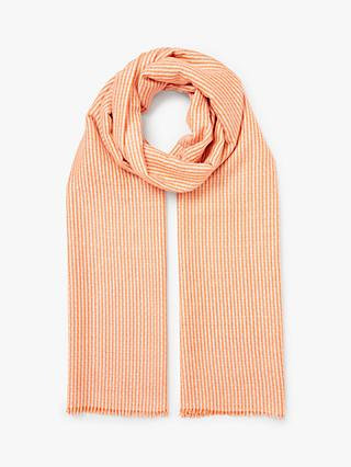 a8ca6272 John Lewis & Partners Gingham Stripe Scarf, Orange Mix
