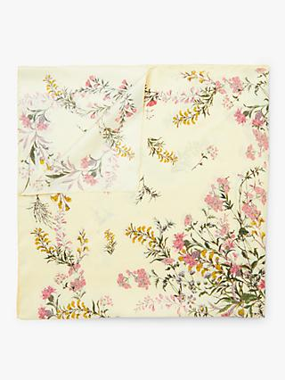 Modern Rarity Meadow Floral Square Silk Scarf, Multi