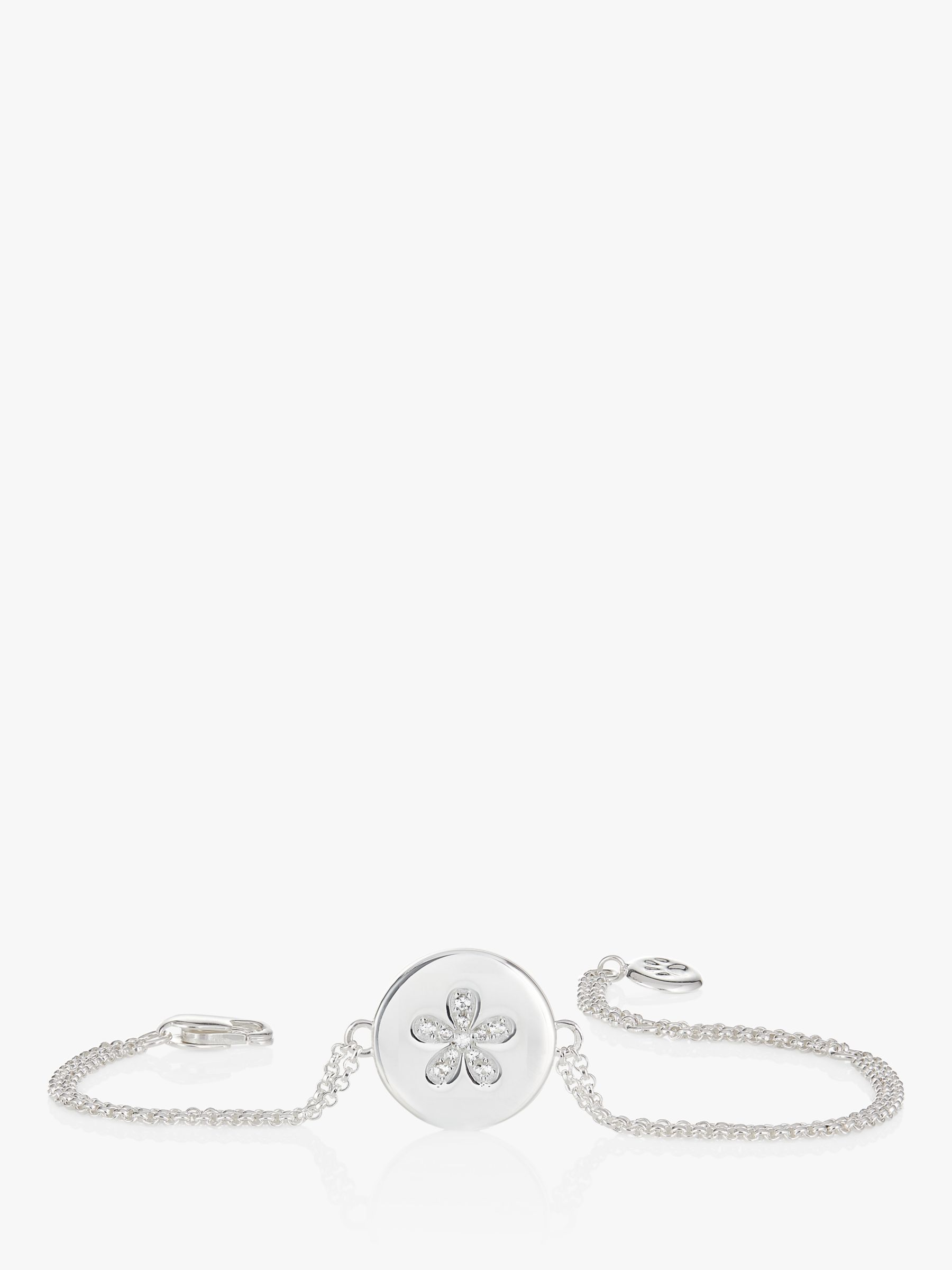 Molly Brown London Sterling Silver Angel of Mine Flower Bracelet