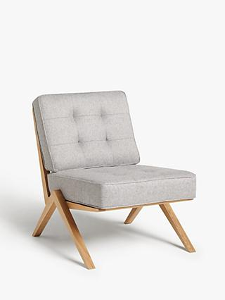 John Lewis & Partners + Swoon Vinci Cocktail Armchair, Cinder Grey