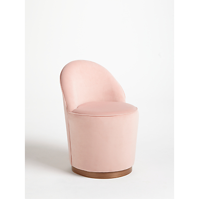 John Lewis & Partners + Swoon Olive Cocktail Chair, Ballet Pink Velvet