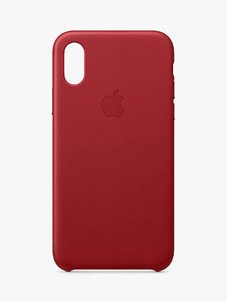 Buy Apple Leather Case for iPhone XS (PRODUCT)Red Online at johnlewis.com
