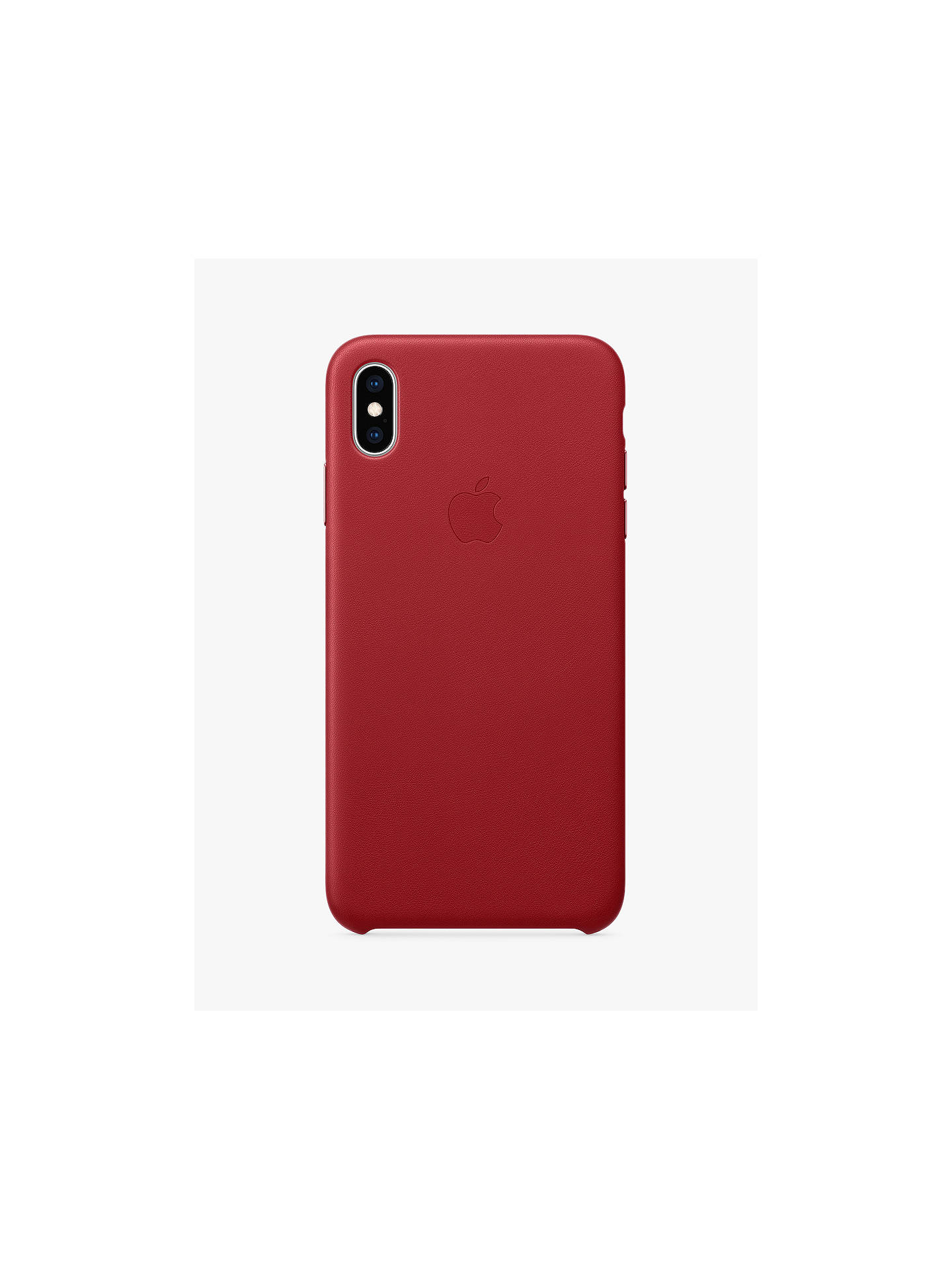 BuyApple Leather Case for iPhone XS (PRODUCT)Red Online at johnlewis.com