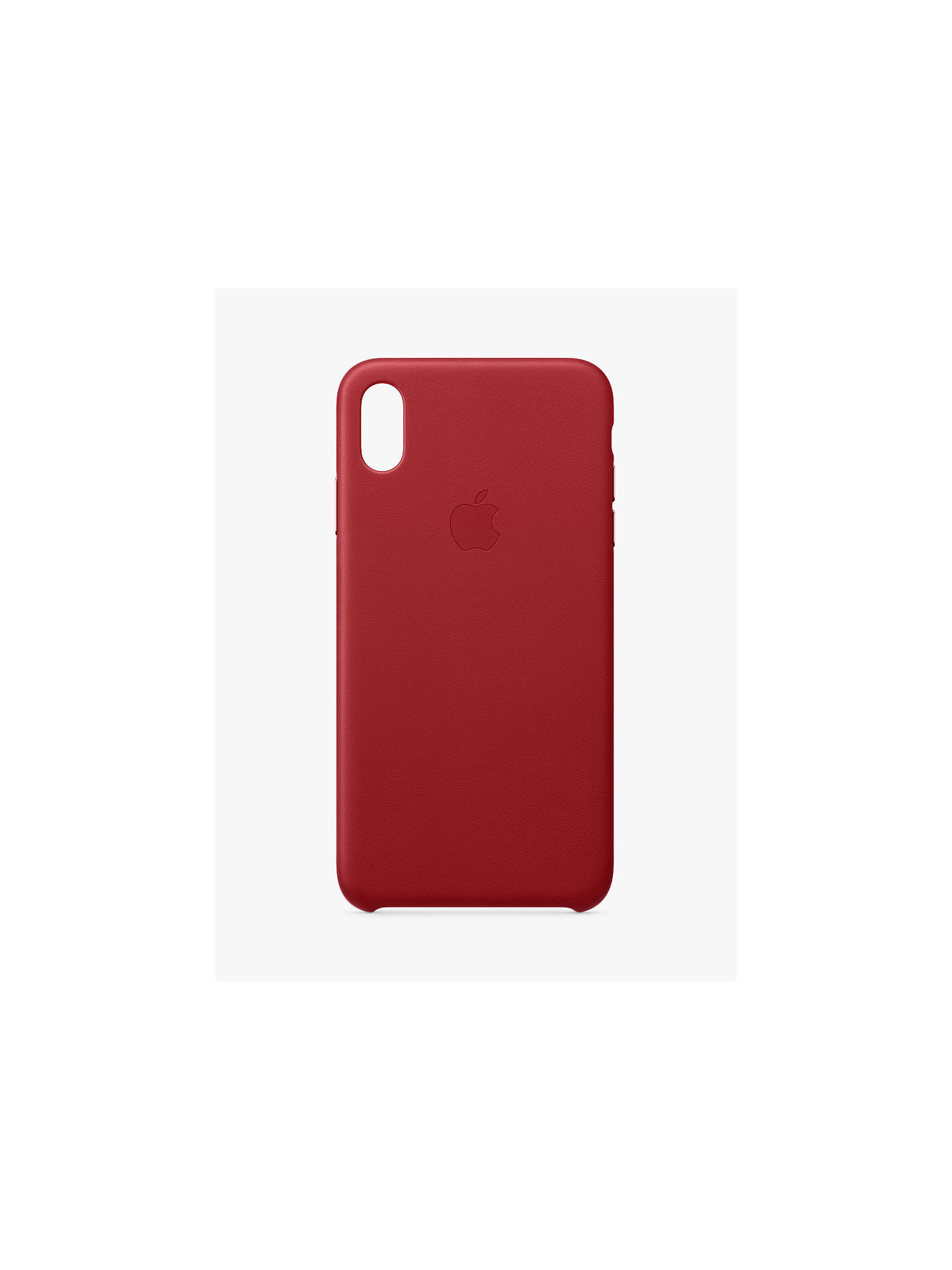 lowest price a4499 df9e4 Apple Leather Case for iPhone XS Max (PRODUCT)Red