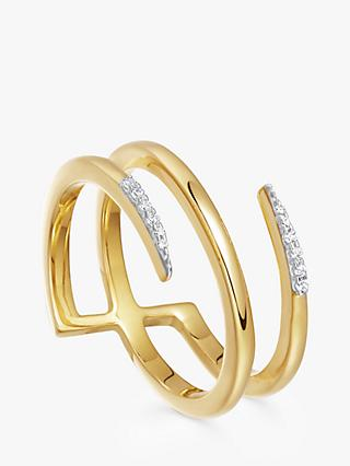 Missoma Cubic Zirconia Pave Claw Lacuna Ring, Gold