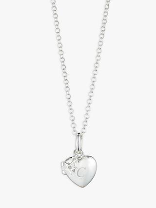 Molly Brown London Sterling Silver Diamond Heart Locket