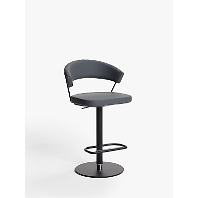 Connubia by Calligaris New York Adjustable Gas Lift Bar Chair, Black Base
