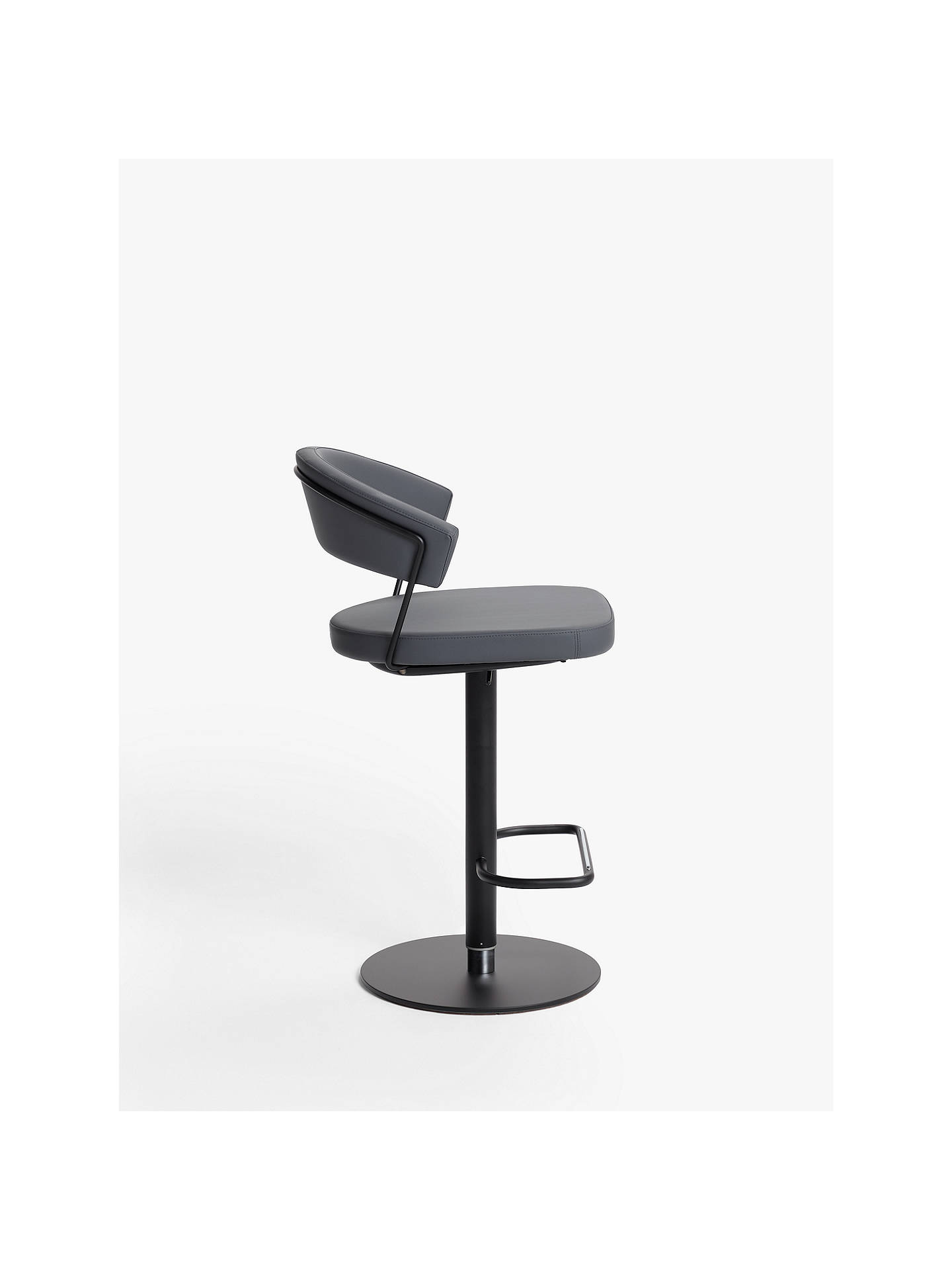 Buy Connubia by Calligaris New York Adjustable Gas Lift Bar Chair, Black Base/Dark Grey Online at johnlewis.com
