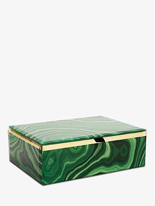 Lola Rose Abstract Print Jewellery Box, Green