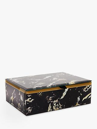 Lola Rose Abstract Print Jewellery Box, Black