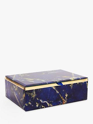 Lola Rose Abstract Print Jewellery Box, Blue