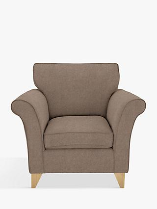 John Lewis & Partners Charlotte Armchair, Light Leg, Dylan Natural