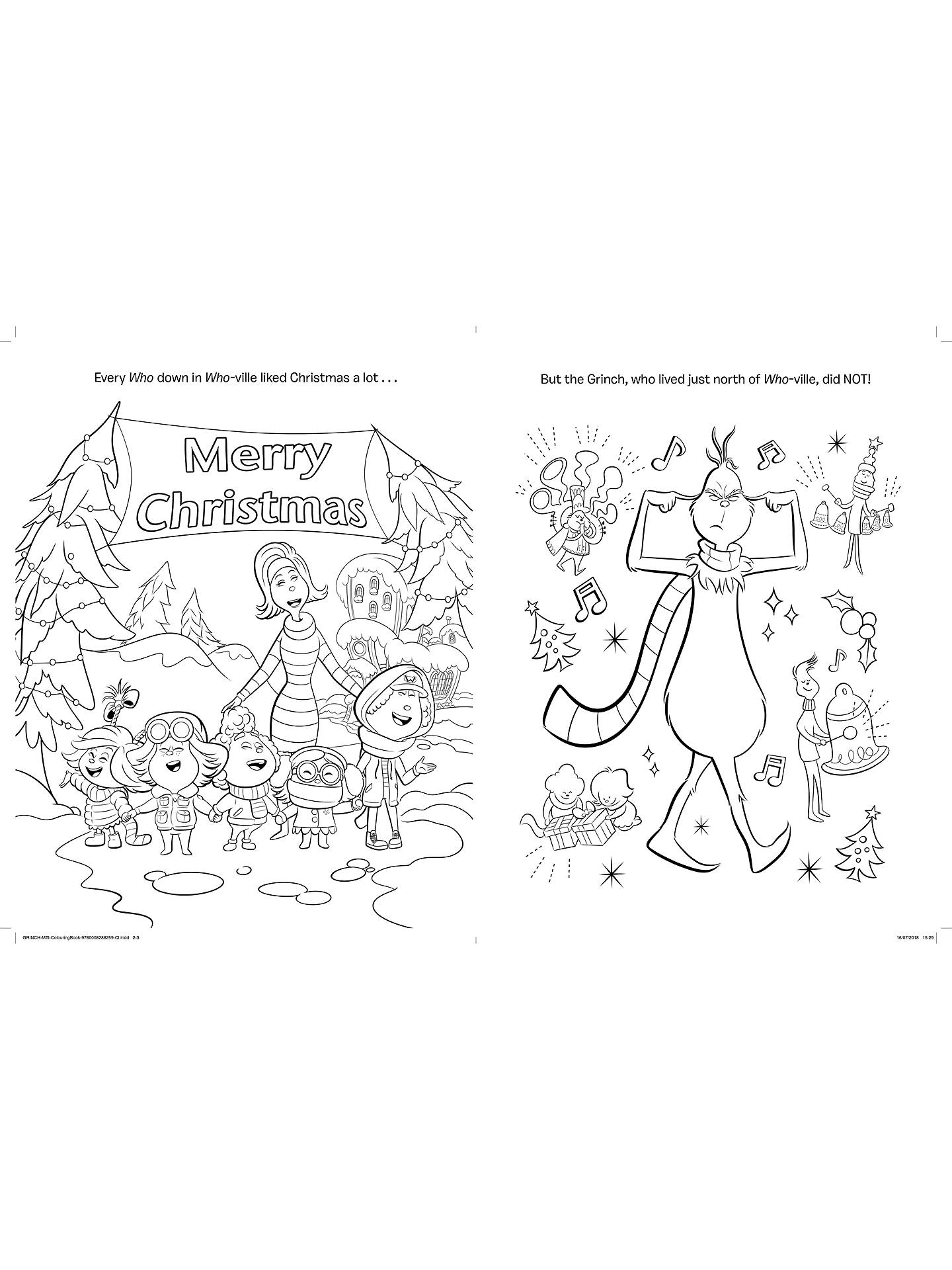 The Grinch Movie Colouring Book and Sticker Book, Pack of ...
