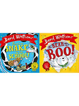 David Walliams There's A Snake In My School and The Bear Who Went Boo Children's Book, Pack of 2