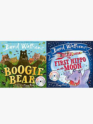 David Walliams Boogie Bear and the First Hippo On The Moon Children's Book With CD, Pack of 2