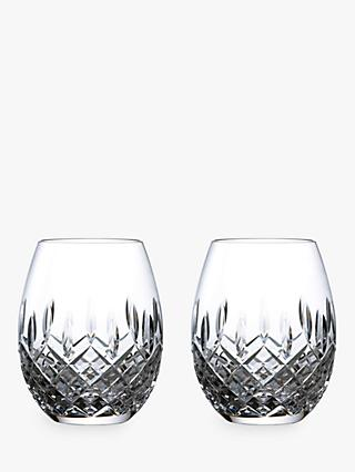 Royal Doulton R&D Collection Highclere Crystal Rum Glasses, Set of 2, 470ml, Clear
