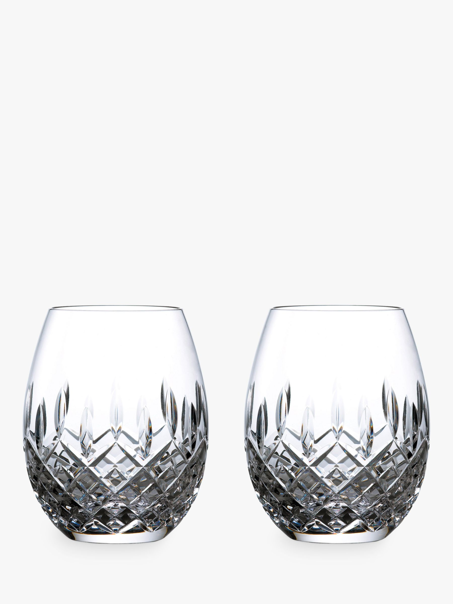 Royal Doulton Royal Doulton R&D Collection Highclere Crystal Rum Glasses, Set of 2, 470ml, Clear