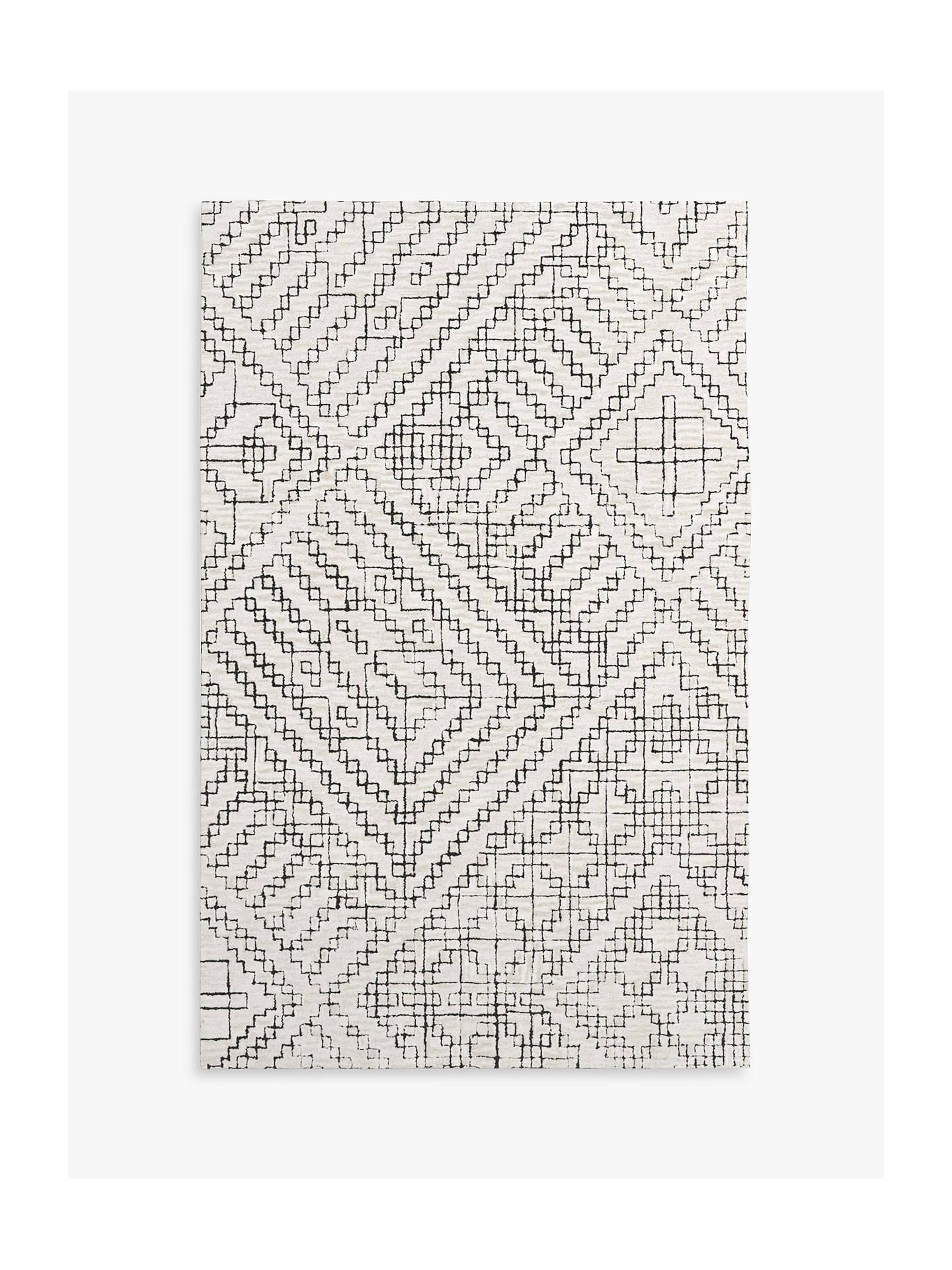west elm Stone Tile Rug, L244 x W152 cm
