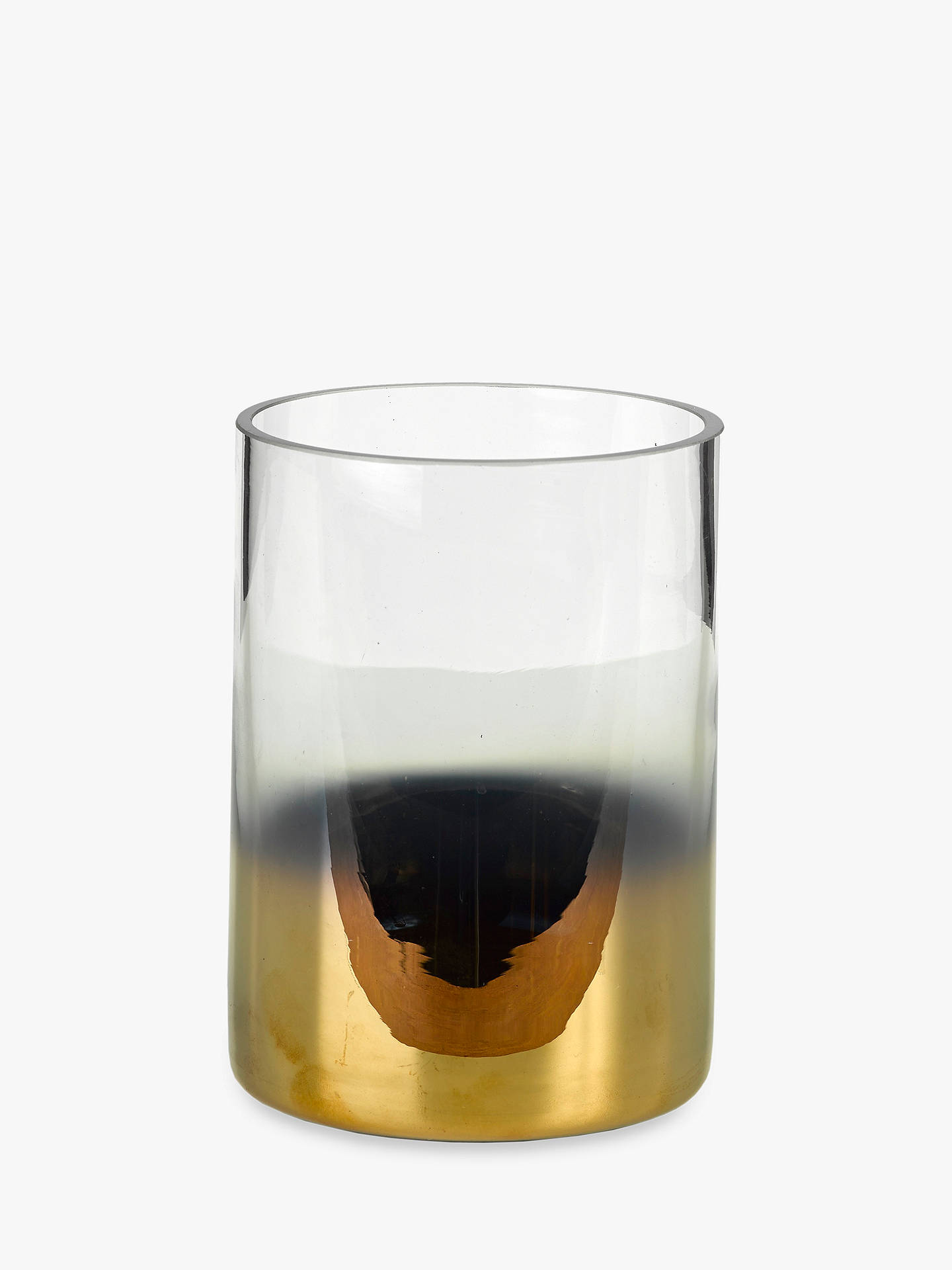 BuyPols Potten Hurricane Half Gold Vase, Small Online at johnlewis.com