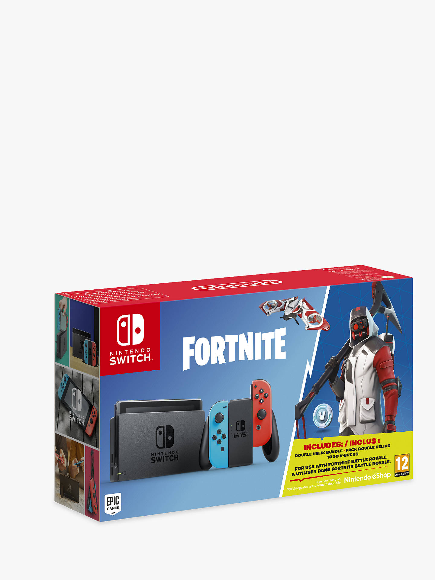 Nintendo Switch Console With Fortnite Game Bundle At John Lewis