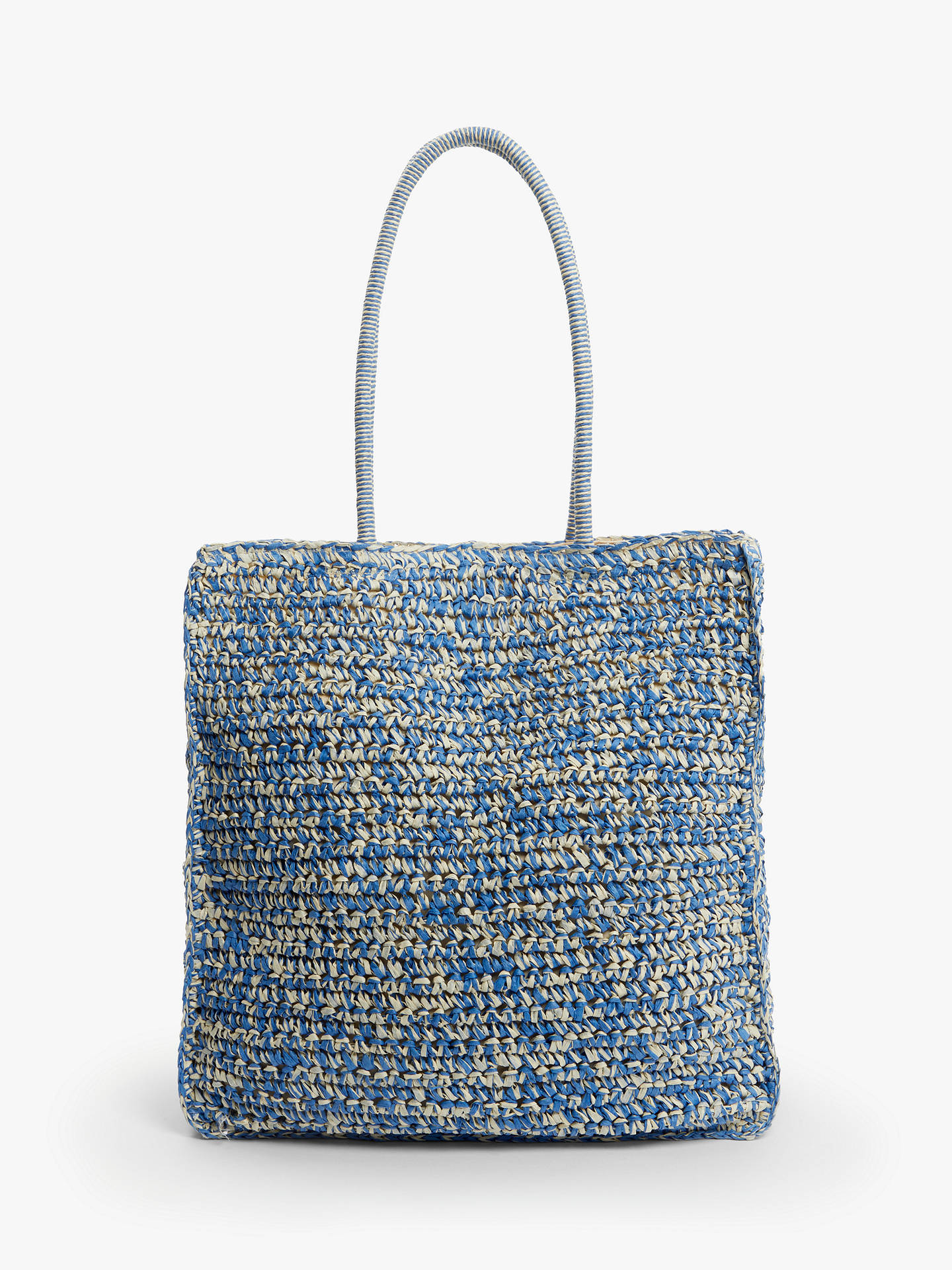 Buy John Lewis & Partners Carina Crochet Shopper Bag, Blue Neutral Online at johnlewis.com