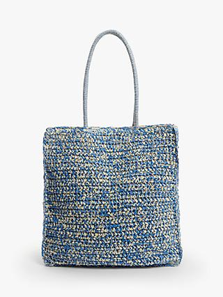 John Lewis & Partners Carina Crochet Shopper Bag