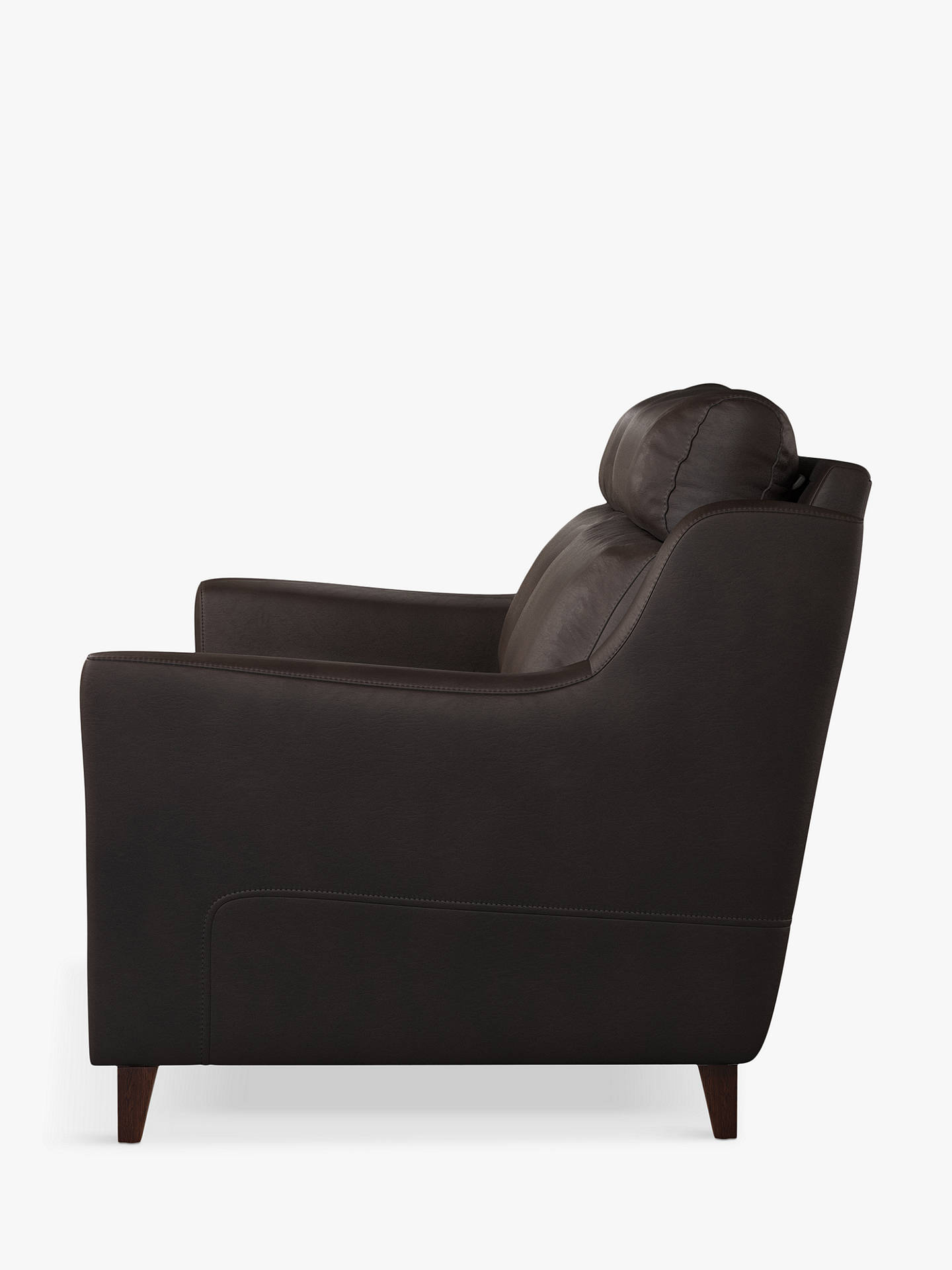 Buy John Lewis & Partners Camber Grand 4 Seater Leather Sofa, Dark Leg, Contempo Dark Chocolate Online at johnlewis.com