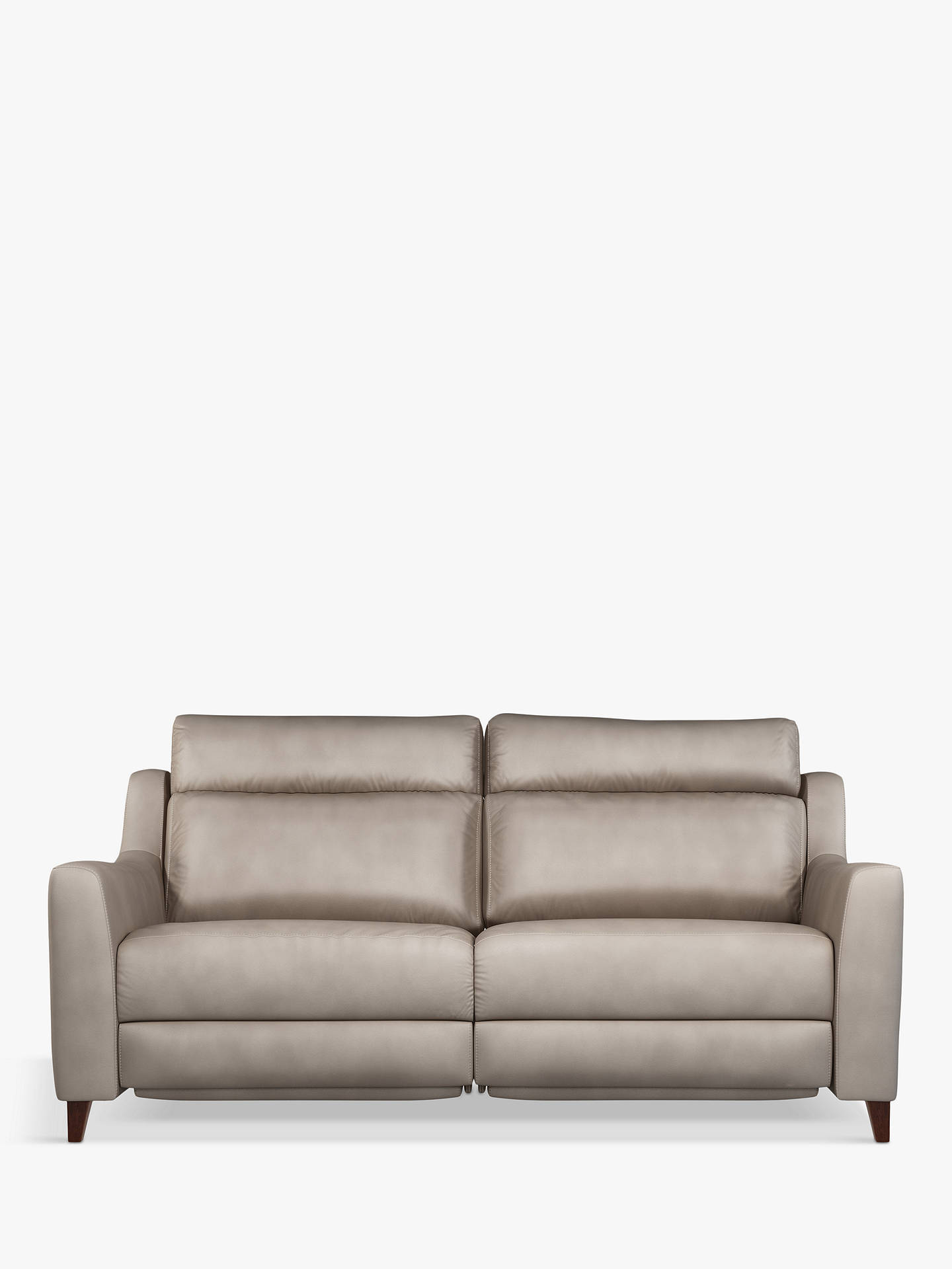 Buy John Lewis & Partners Camber Grand 4 Seater Leather Sofa, Dark Leg, Demetra Charcoal Online at johnlewis.com