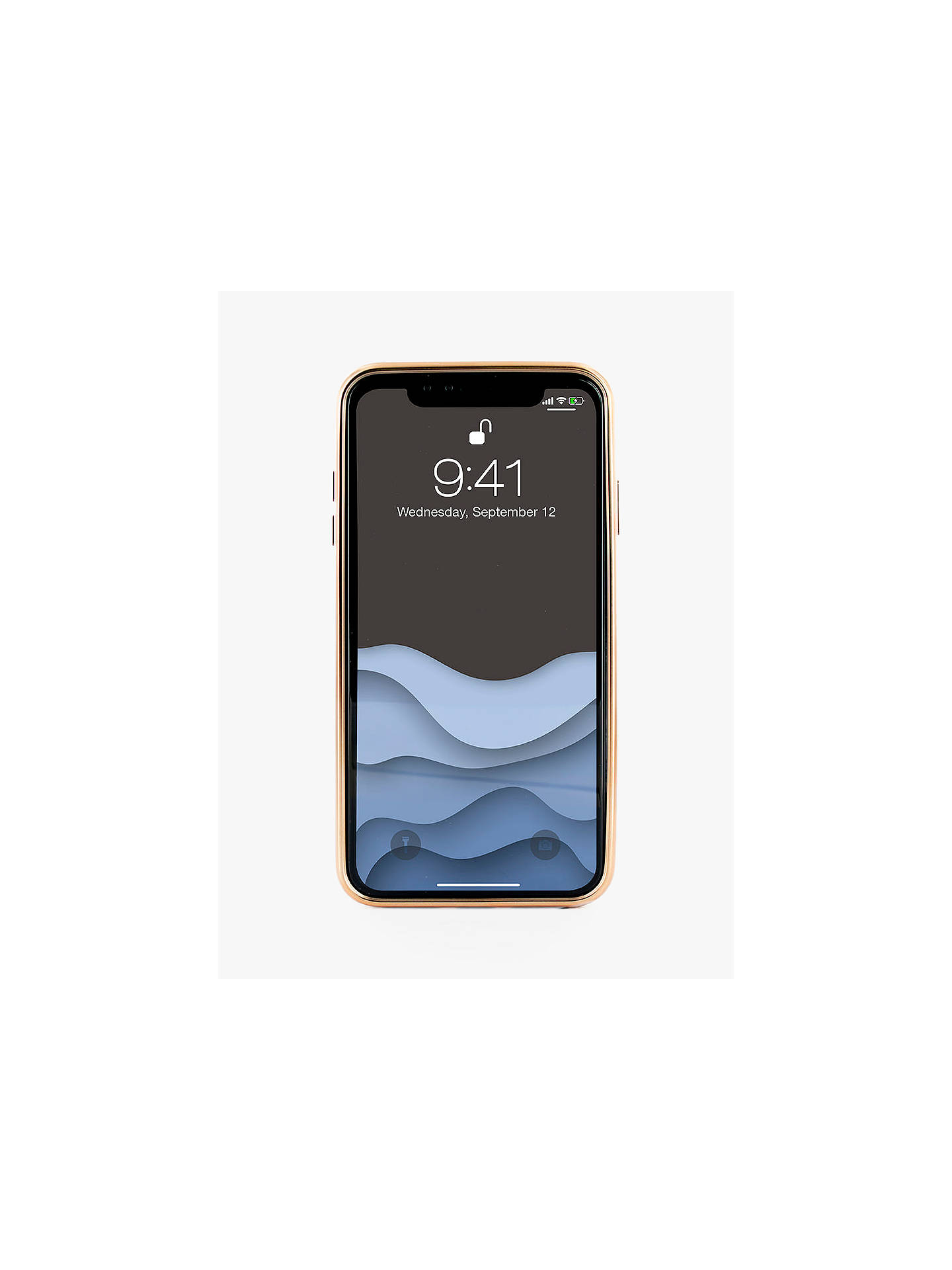 5e739f74123b ... Buy Ted Baker Champagne Case for iPhone XS Online at johnlewis.com ...