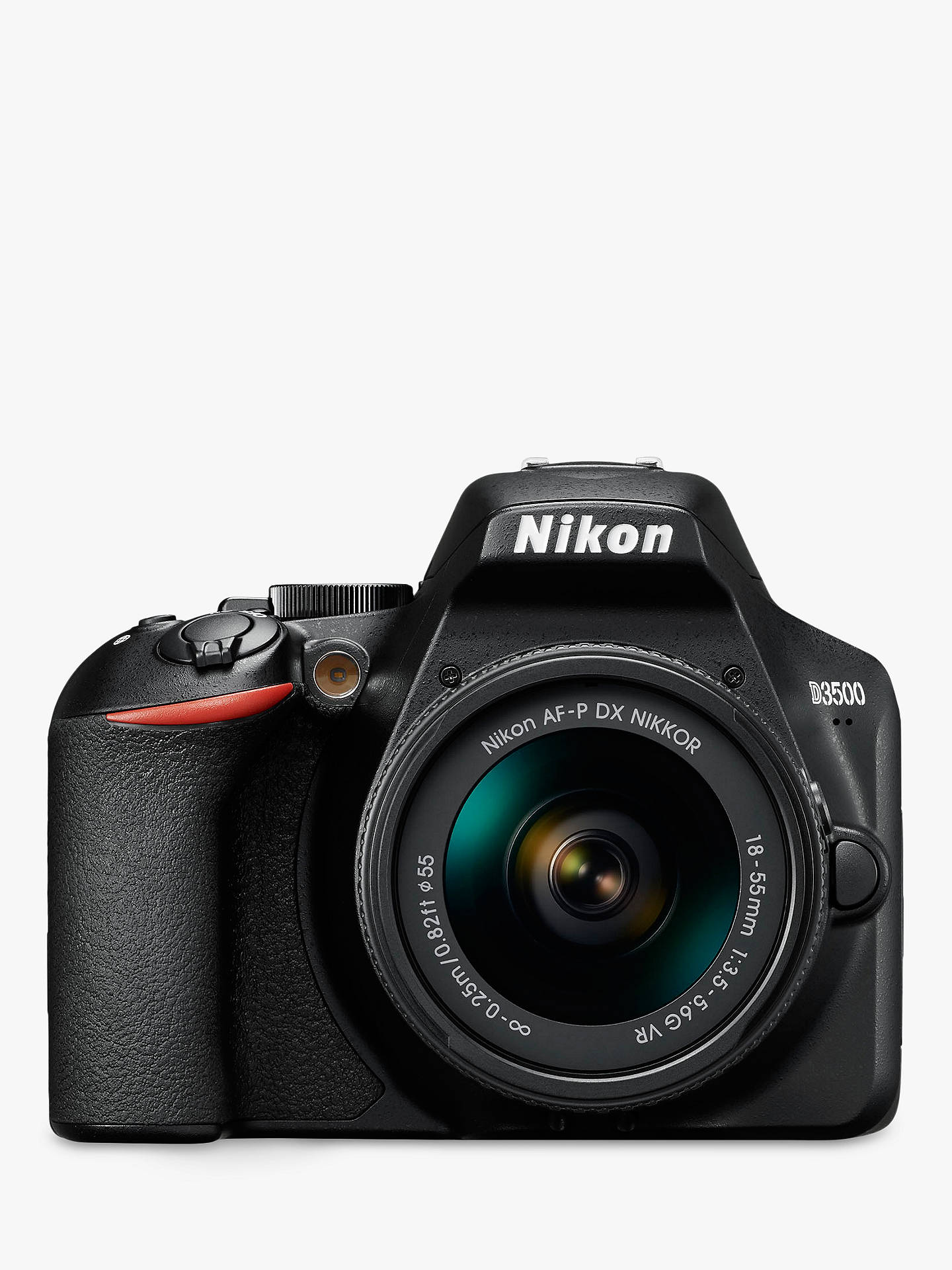 "Buy Nikon D3500 Digital SLR Camera with 18-55mm VR Lens, HD 1080p, 24.2MP, Bluetooth, 3"" LCD Screen Online at johnlewis.com"
