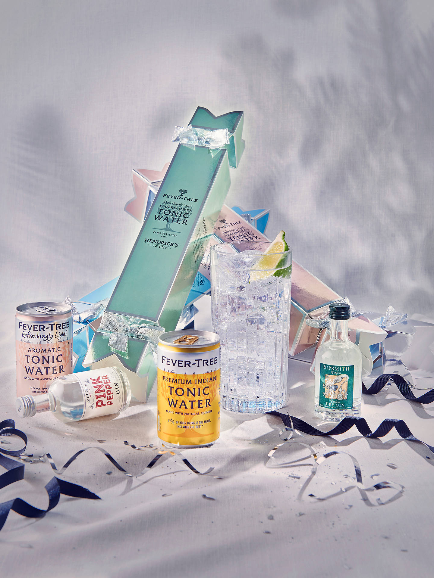 BuyFever-Tree Gin & Tonic Christmas Crackers, 4x 5cl Online at johnlewis.com
